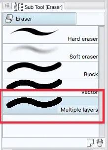 Clip Studio Paint erase multiple layers