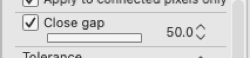 The Slider version of the Close the Gap option on the Fill tool