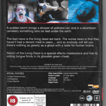 Tartan DVD, Back