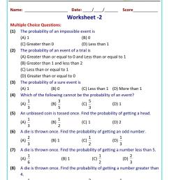 Class 10 math problems probability worksheet [ 1521 x 1075 Pixel ]