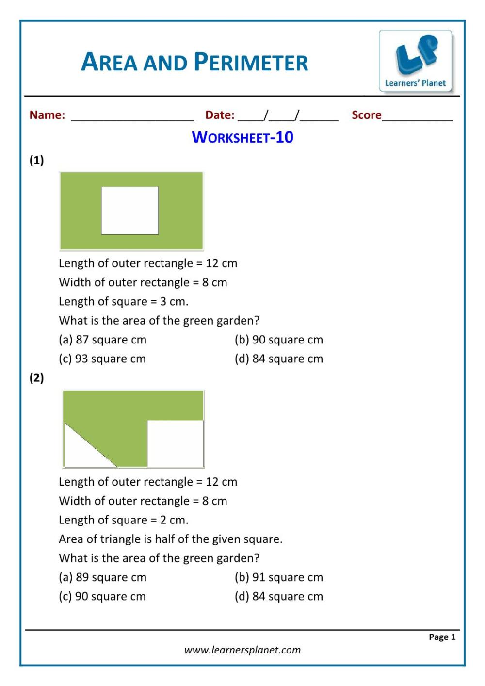 medium resolution of Word problems area and perimeter for 5th grade