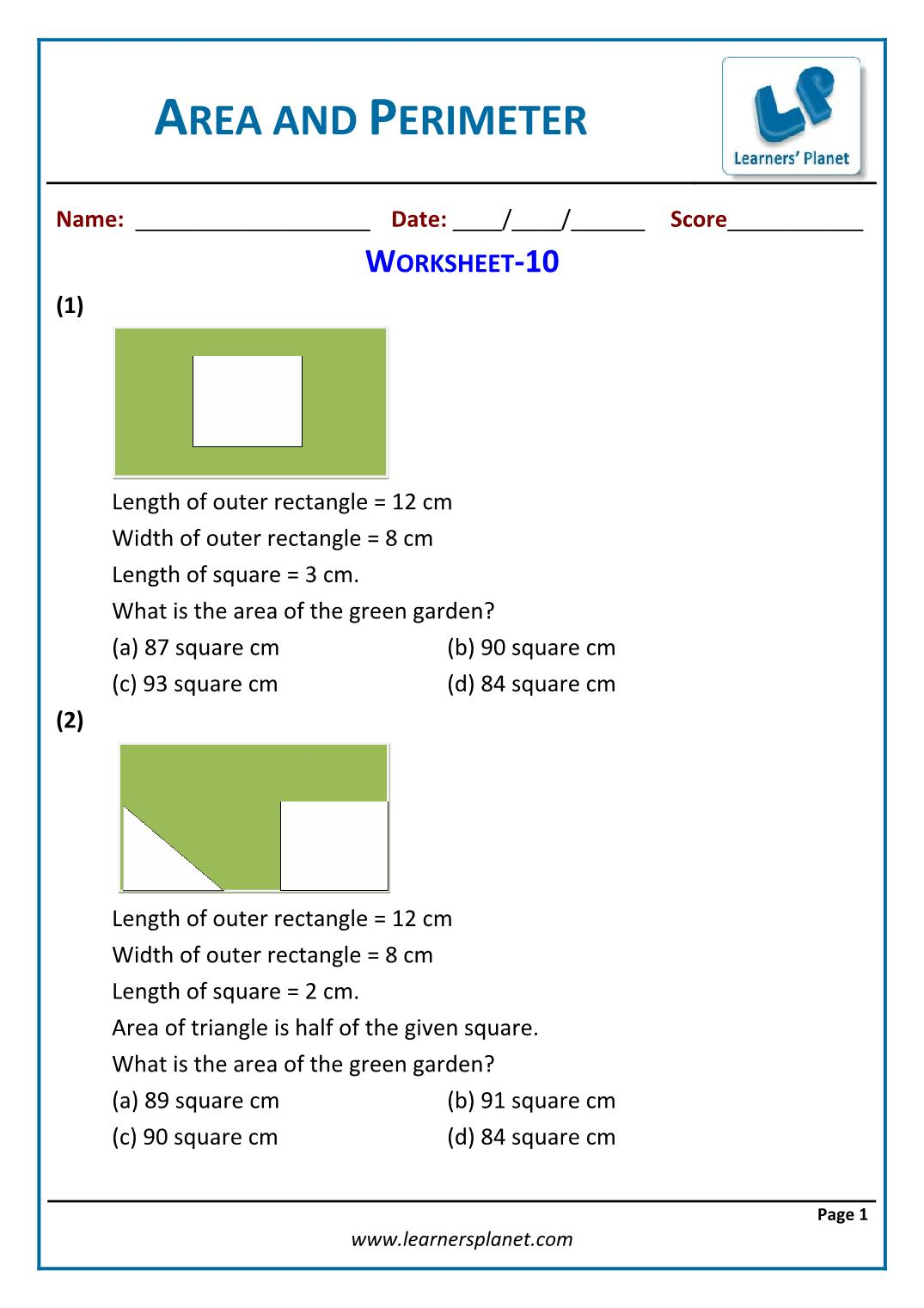 hight resolution of Word problems area and perimeter for 5th grade