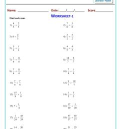 Printable fractions worksheets for cbse 5th maths [ 1521 x 1075 Pixel ]