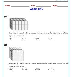 5th grade math volume problems worksheets [ 1521 x 1075 Pixel ]