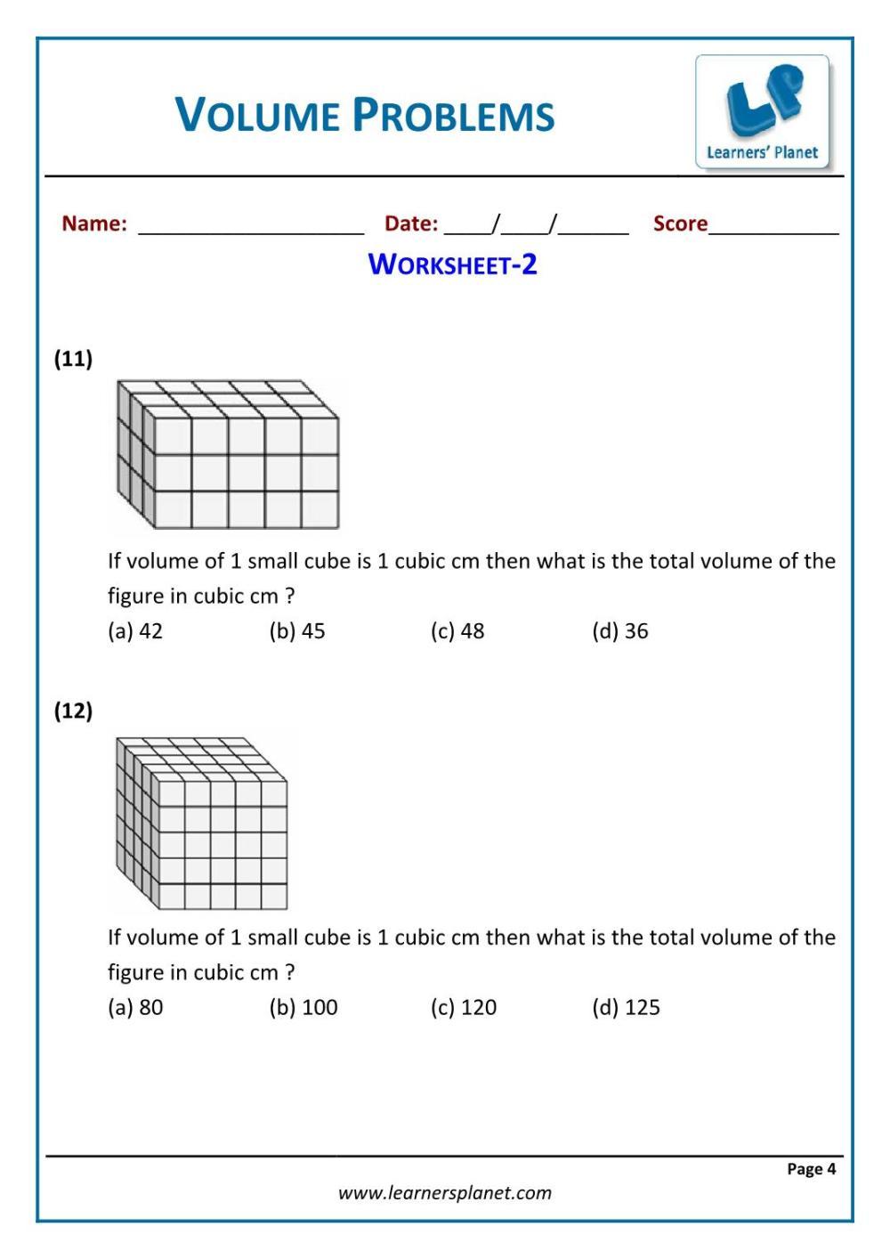 medium resolution of 5th grade math volume problems worksheets