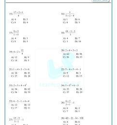 BODMAS practice sheets 6th grade math worksheets on basic operationsBODMAS  practice sheets 6th grade math worksheets on basic operations [ 1755 x 1241 Pixel ]
