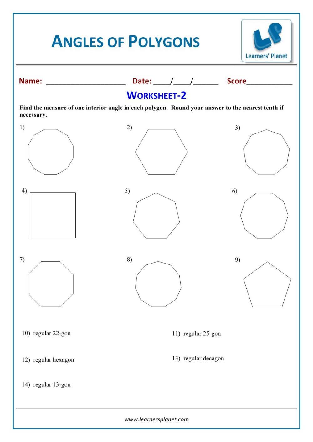 medium resolution of Grade 6 maths worksheets understanding elementary shapes online videos