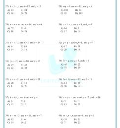 Printable worksheets algebraic expressions 7th CBSE math study material  videos [ 1521 x 1075 Pixel ]