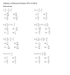 Class 7 addition of rational numbers worksheet [ 1521 x 1075 Pixel ]