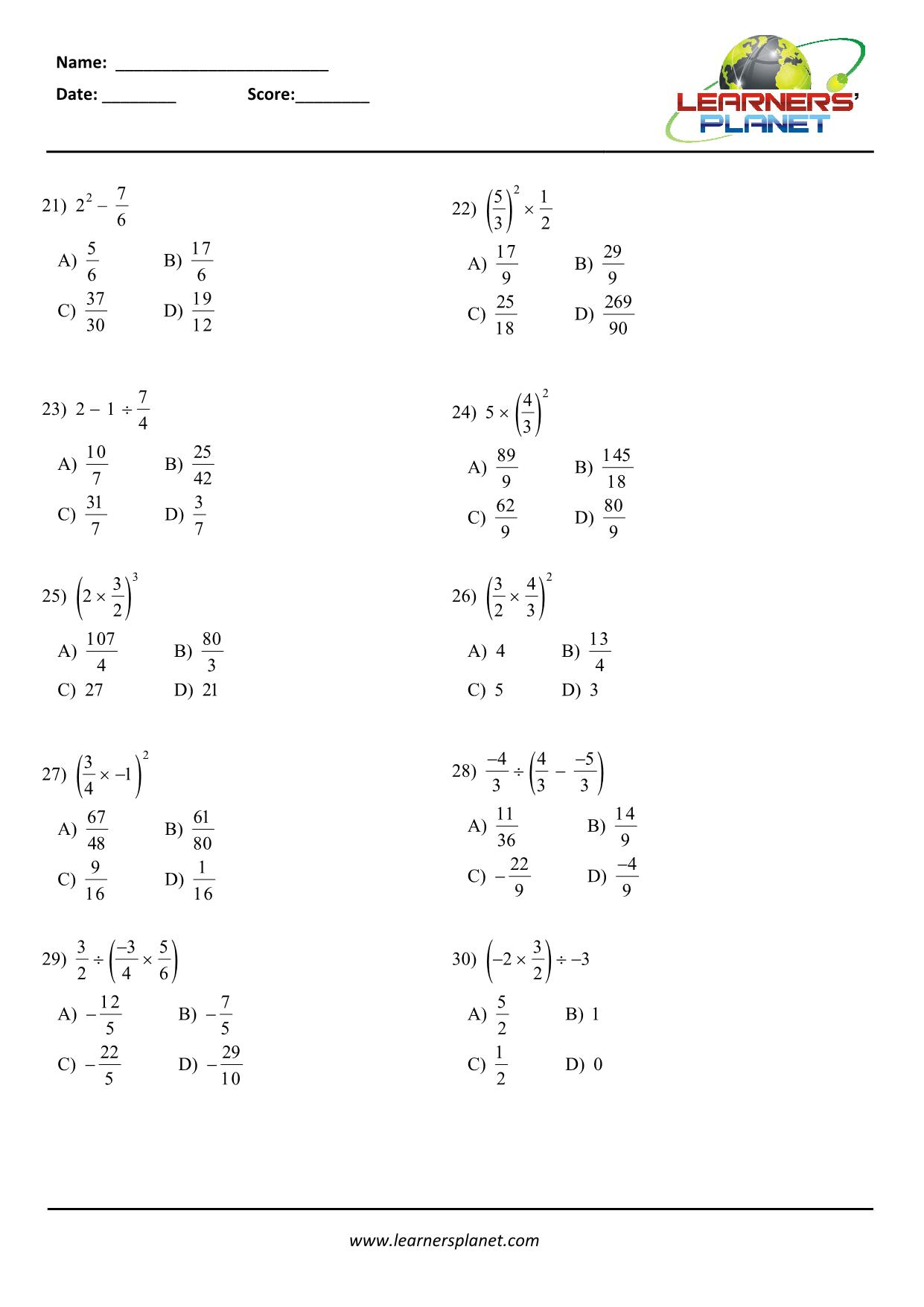 hight resolution of CBSE 7 math worksheet on word problems on rational numbers