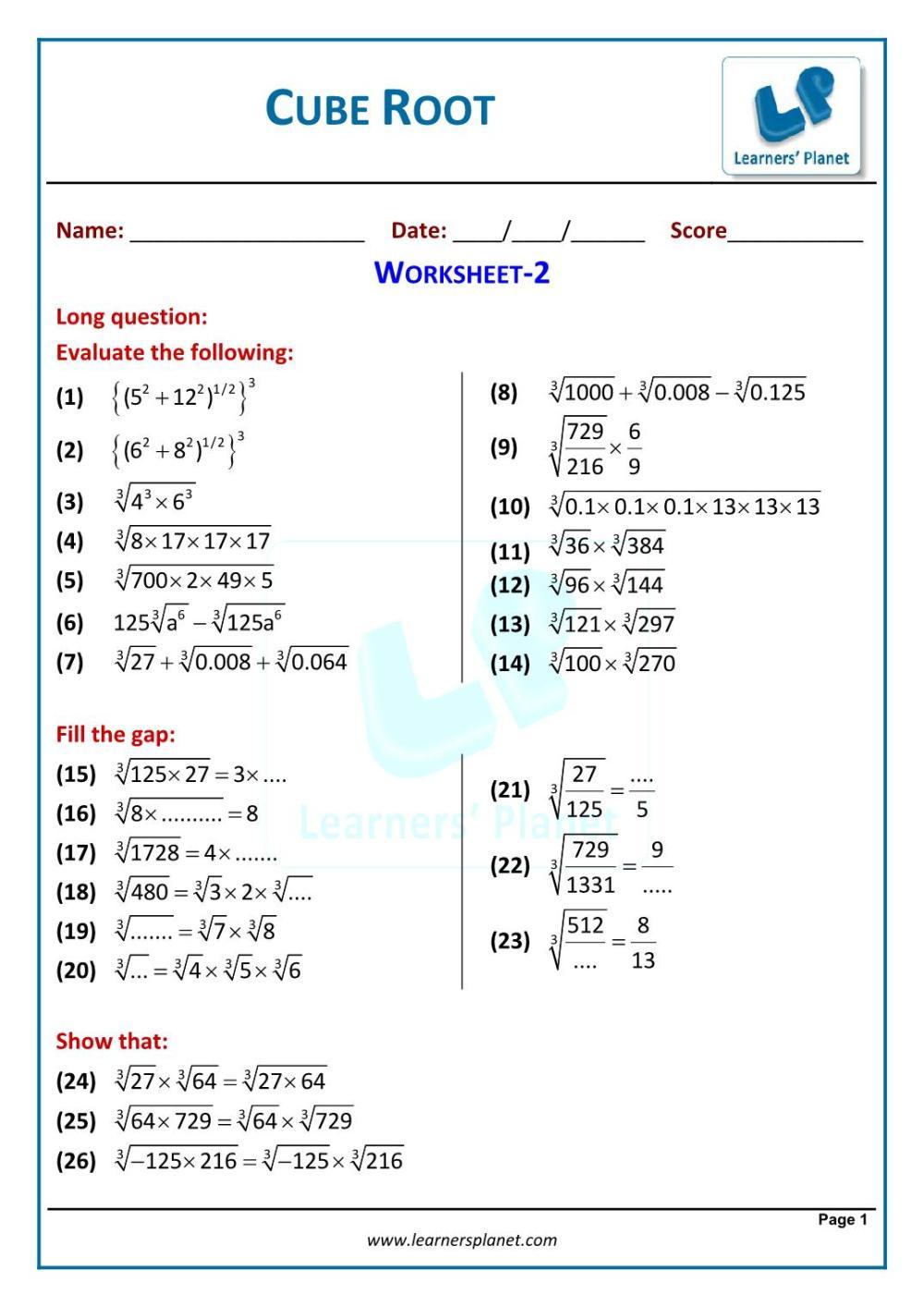 medium resolution of Grade viii cbse cubes and cube roots math online videos