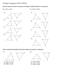 Congruent triangles math worksheet for 8th grade [ 1521 x 1075 Pixel ]