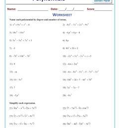 Subtracting polynomials math worksheets class 9 [ 1755 x 1241 Pixel ]
