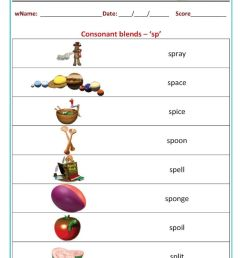 Phonics consonant blends worksheet [ 1200 x 849 Pixel ]