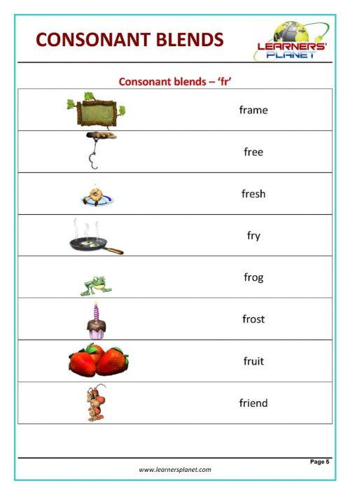 small resolution of Consonant blend worksheets for kids