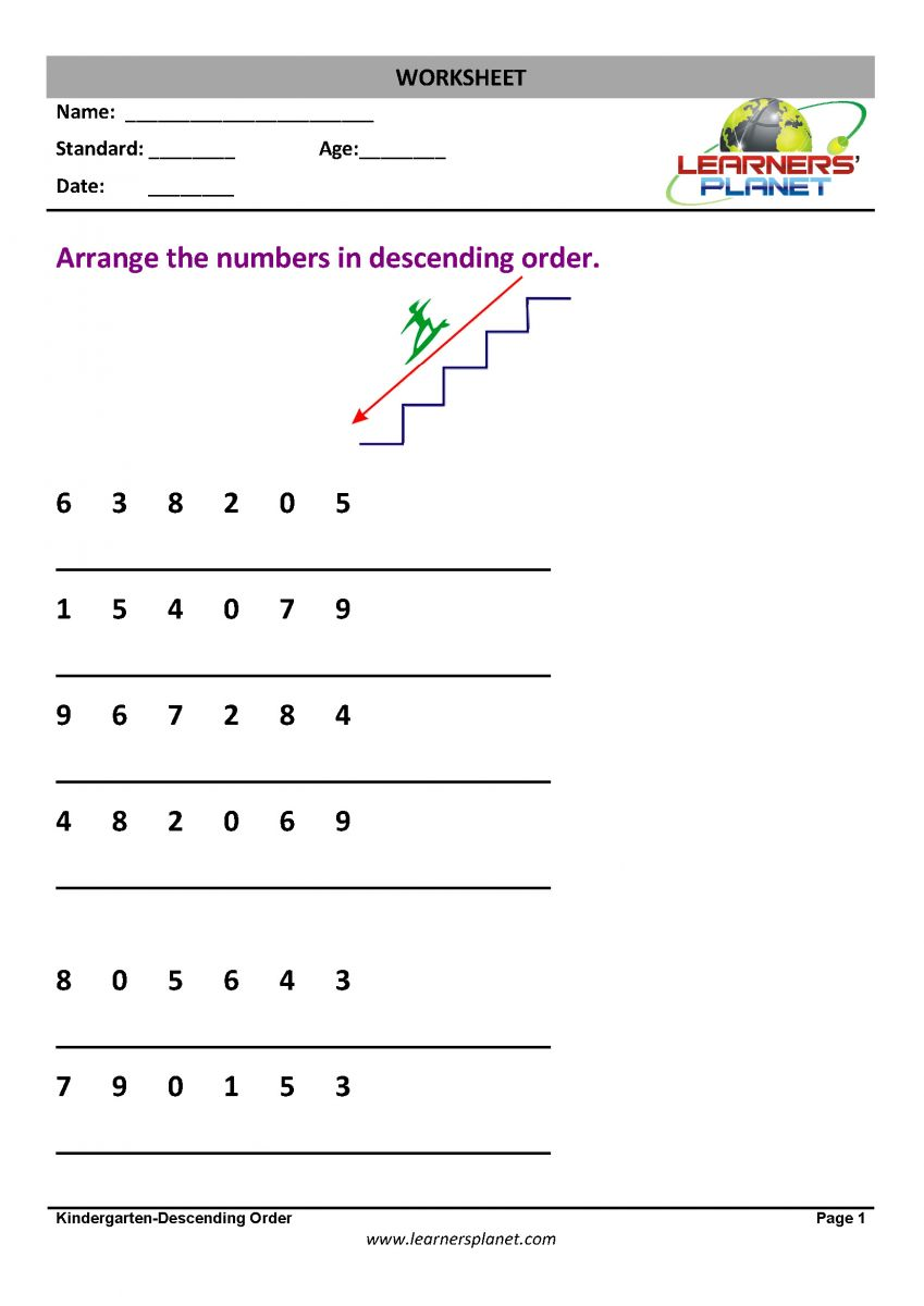 medium resolution of Worksheets on Order and Position Worksheets on Order and Position