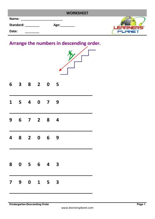 small resolution of Worksheets on Order and Position Worksheets on Order and Position