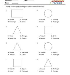 1st grade geometry worksheets identify the shapes [ 1200 x 927 Pixel ]