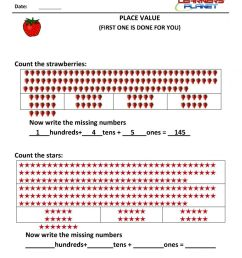 Download 1st grade place value worksheets [ 1200 x 848 Pixel ]
