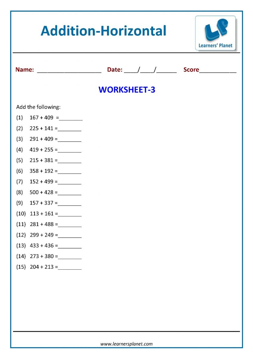 hight resolution of Math addition printable worksheets online for class 2 kids tutorialsMath  addition printable worksheets online for class 2 kids tutorials