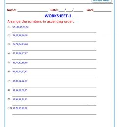 Maths class 2 ascending order worksheets [ 1200 x 848 Pixel ]