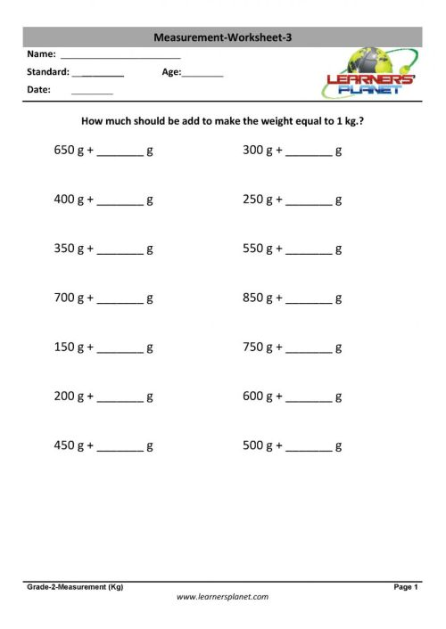 small resolution of Printable worksheets quiz video tutorials for measuring units class 2  students