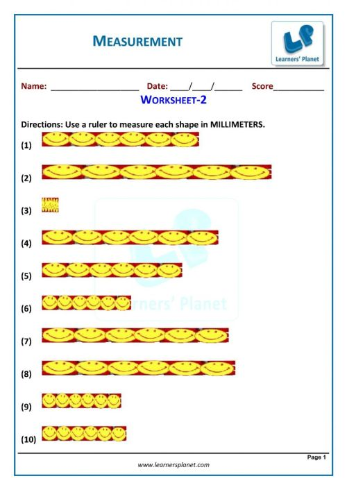 small resolution of 3rd grade measurement worksheets download