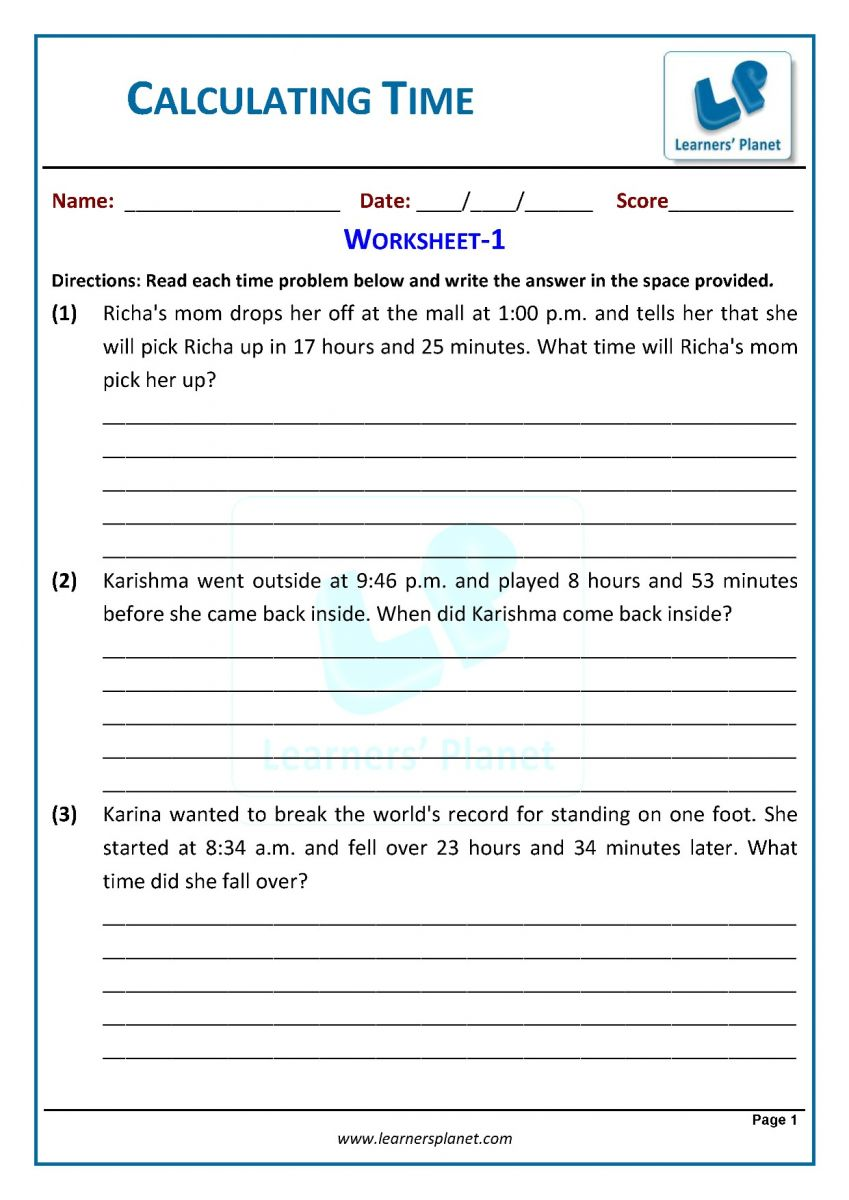 hight resolution of Math online grade three telling time worksheets