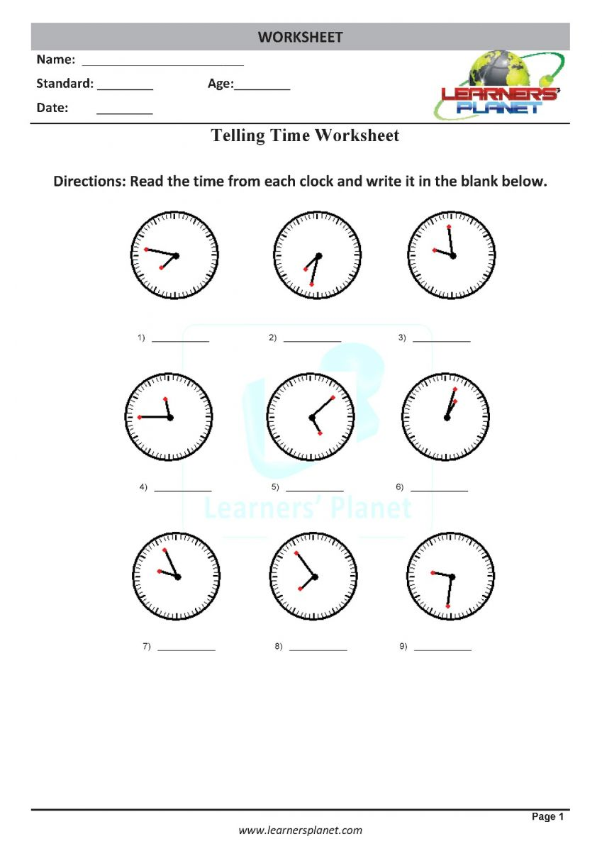 medium resolution of Printable grade 3 math practice telling time worksheets