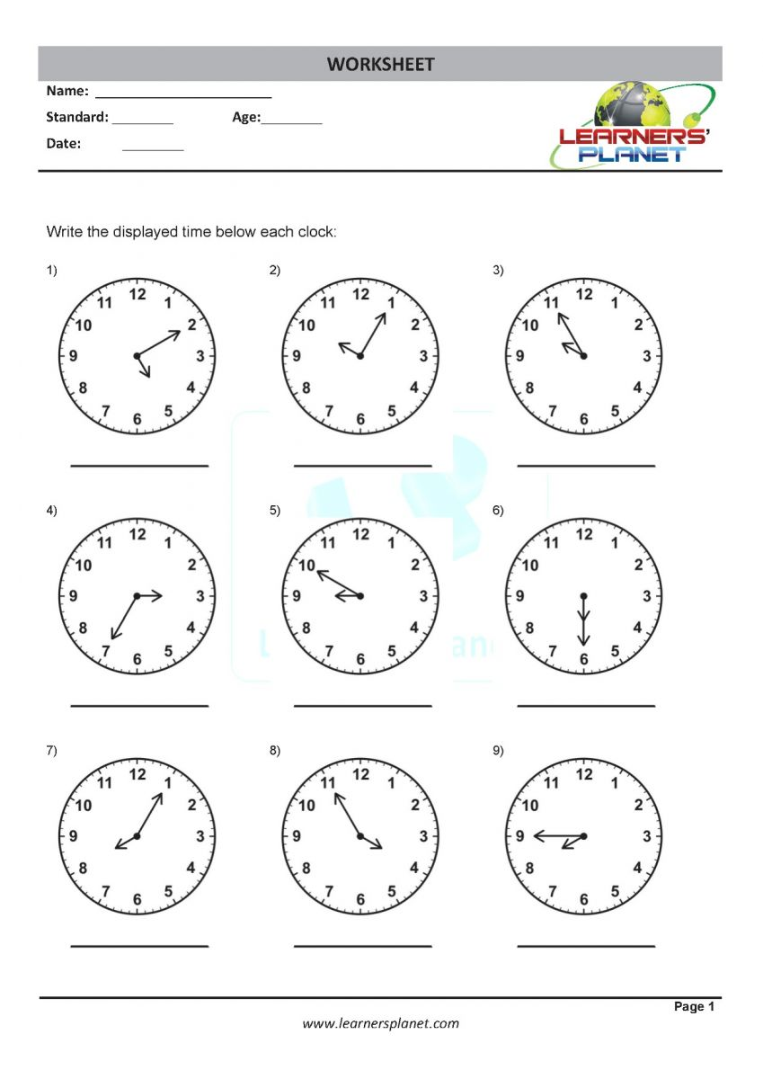 medium resolution of Math online grade three telling time worksheets
