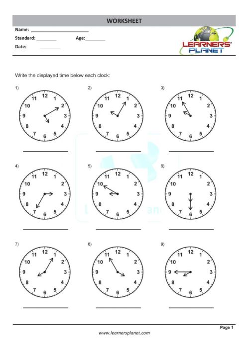 small resolution of Math online grade three telling time worksheets