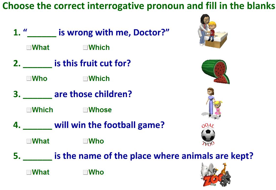 hight resolution of Interrogative pronouns-worksheet