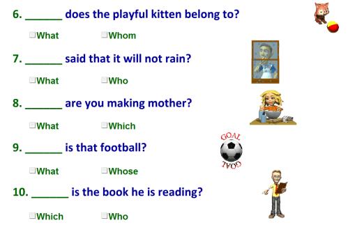 small resolution of Interrogative pronouns-worksheet
