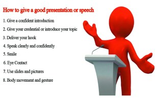 Top ways to give a good presentation or speech