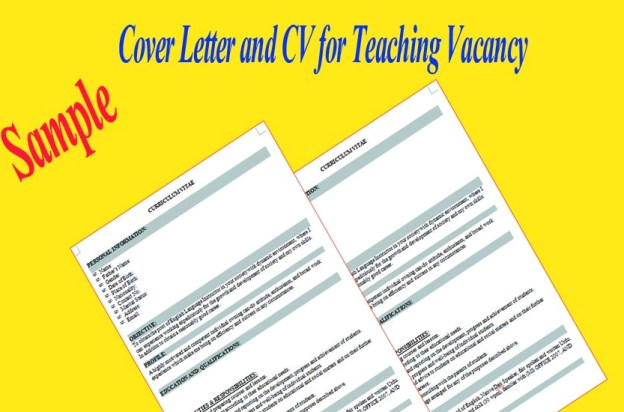 Cover Letter and CV for Teaching Vacancy