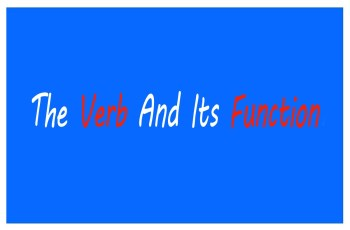 The verb and its function