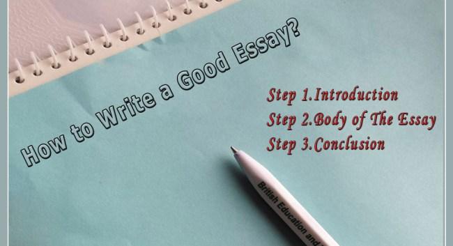How to Write a Good Essay?
