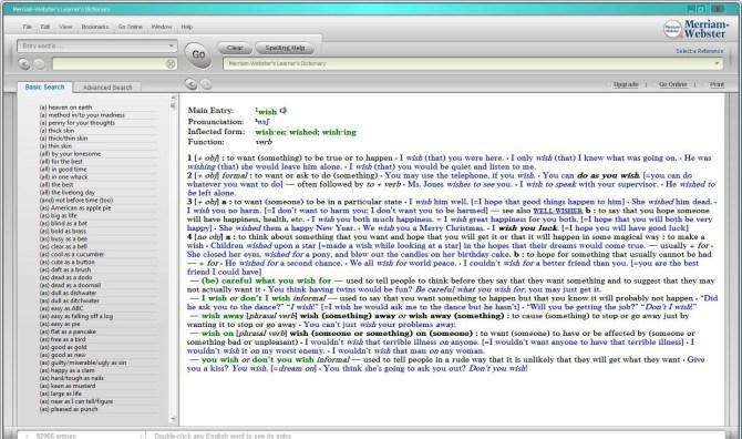 Merriaam Advanced Learner's Dictionary
