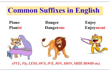 Common Suffiexes in English