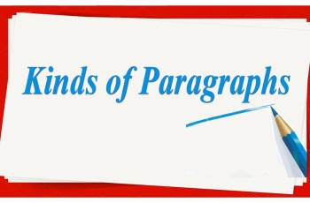 Kinds of Paragraphs