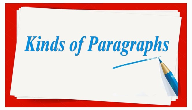 Kinds of Paragraphs