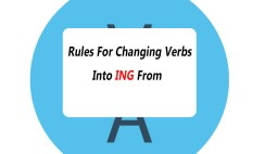 Rules For Changing Verbs Into ING Form