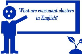 What are consonant clusters in English?