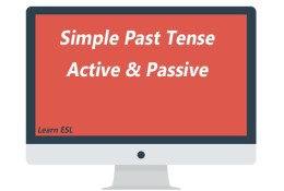 Active and Passive Voice of Simple Past Tense