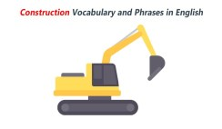 Construction Vocabulary and Phrases in English