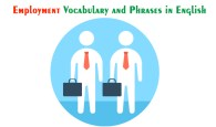 Employment Vocabulary and Phrases