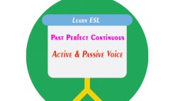 Past Perfect Continuous Tense Active and Passive Voice