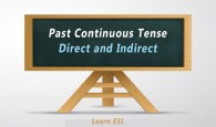 Direct and Indirect of Past Continuous Tense