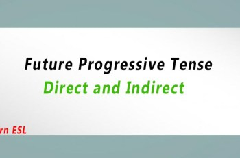 Direct and Indirect of Future Progressive Tense
