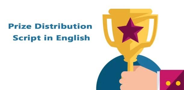 Prize Distribution Script in English